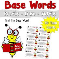 Base Words Task Cards