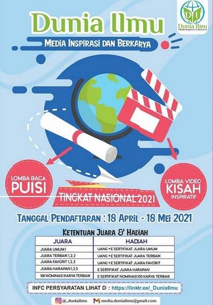 LOMBA BACA PUISI & VIDEO KISAH INSPIRATIF TINGKAT NASIONAL 2021