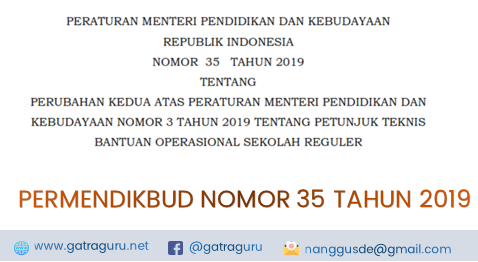 Permendikbud Nomor 35 Tahun 2019