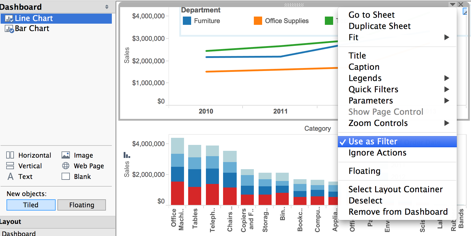 Paint By Numbers A Rough Guide To Tableau Dashboard Actions