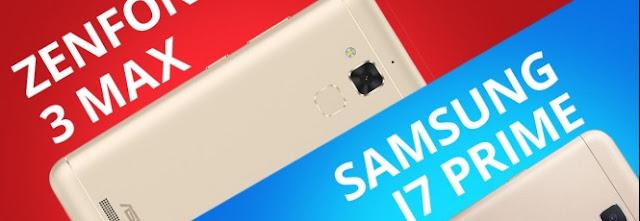 Comparativo Zenfone 3 Max vs. Galaxy J7 Prime