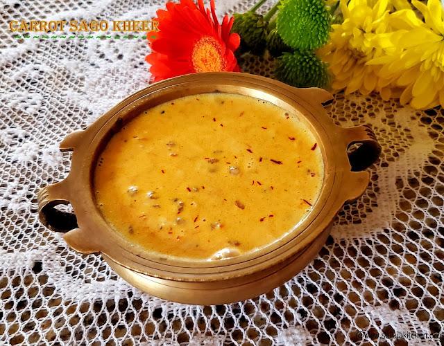 images of Carrot Sabudana Kheer / Carrot Sago Kheer / Carrot Sago Payasam