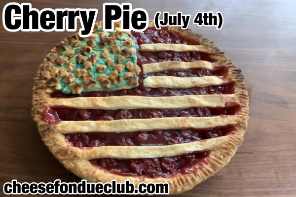 Fourth of July Cherry Pie