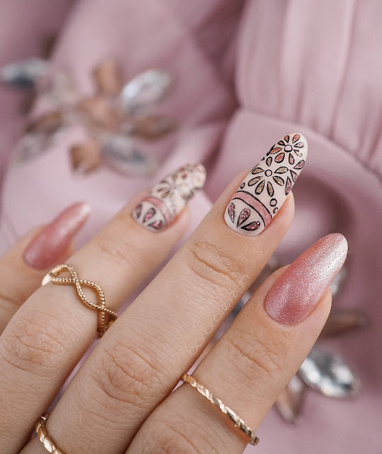 glitterowe paznokcie