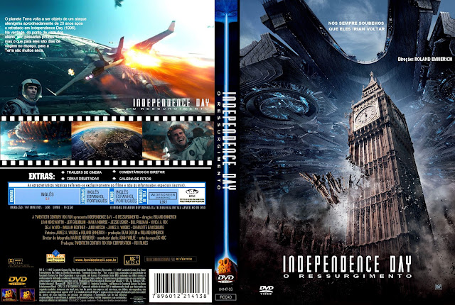 Capa DVD Independence Day O Ressurgimento