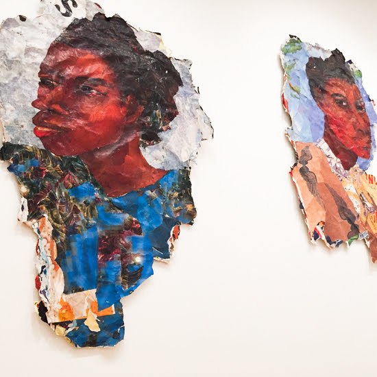 Safari Fusion blog >< [Explore] NGV Triennial | Collage of torn paper by Kay Hassan, South Africa