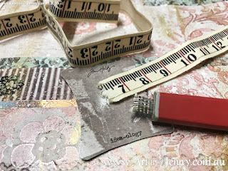 dimesional elements using Tim Holtz Idea-Ology Tape for the Childrens Clothing Collage by Jenny James