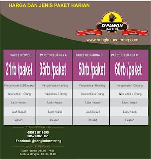 Catering Harian Masakan Rumahan (Bengkulu Catering)