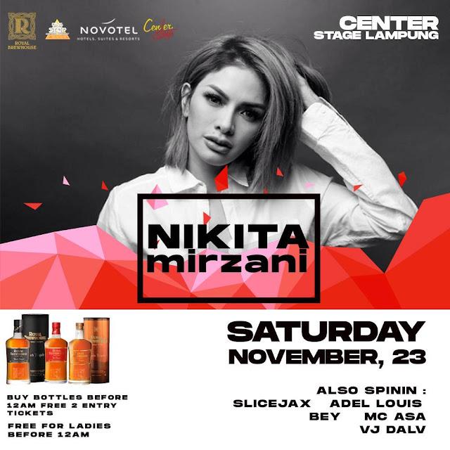 Nikita Mirzani Siap Hibur Cluber Lampung, Kuy Merapat....!