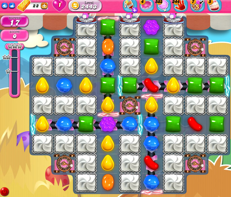 Candy Crush Saga level 2443