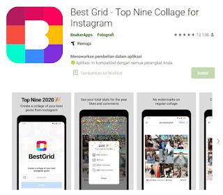 Rekomendasi Aplikasi Membuat Top Best Nine Instagram