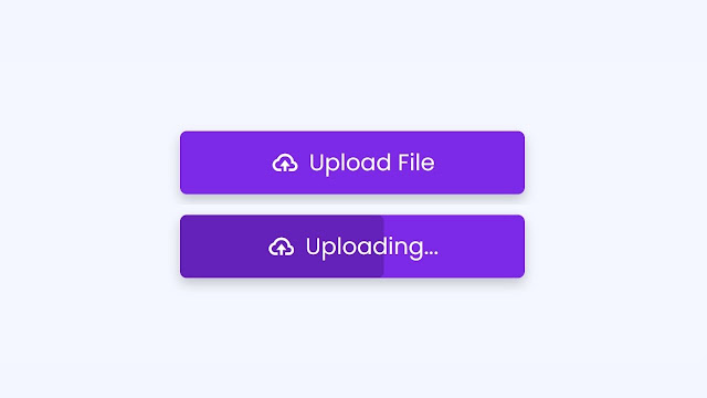 Button with Progress Bar in HTML and CSS