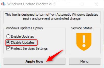 Stop Windows 10 Update برنامج