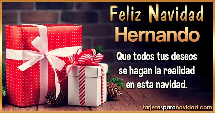 Feliz Navidad Hernando