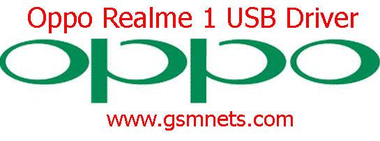 Oppo Realme 1 USB Driver Download