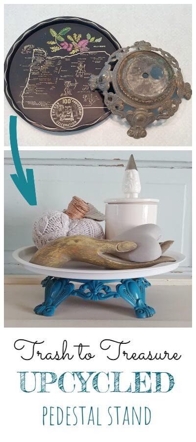 Upcycled Pedestal Stand