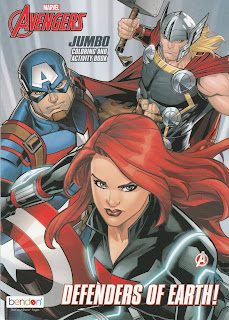 Front cover of Avengers Jumbo Coloring and Activity Book: Defenders of Earth