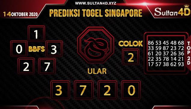 PREDIKSI TOGEL SINGAPORE SULTAN4D 14 OKTOBER 2020
