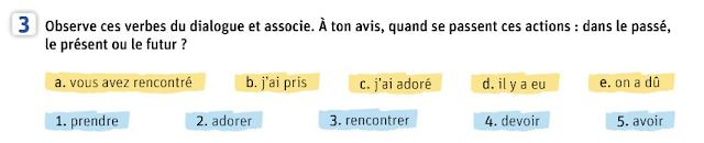 Passé composé - połącz odmienione czasowniki z ich bezokolicznikami - Francuski przy kawie