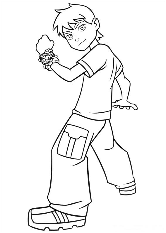 Ben 10 coloring pages free printable coloring pages for Ten coloring page