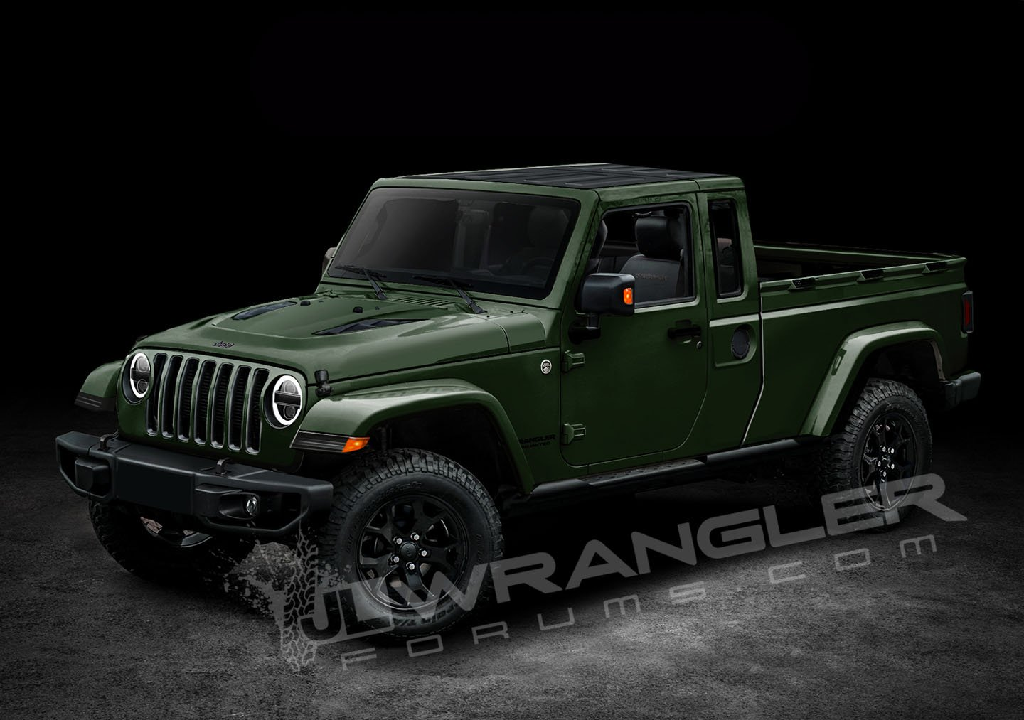 2017 Jeep Wrangler Pickup Price >> 2019 Jeep Wrangler Pickup Looks Scrambler-rific In Latest Renderings | Carscoops
