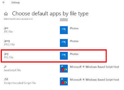 list of file types with default apps already set