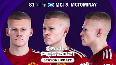 PES 2021 PES 2021 Faces Scott McTominay by YeshuaFaces Scott McTominay by Yeshua