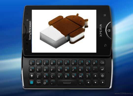how to update sony ericsson xperia mini pro fimrware to android 4.0
