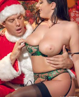 Pornstar Angela White fucked with Santa Claus