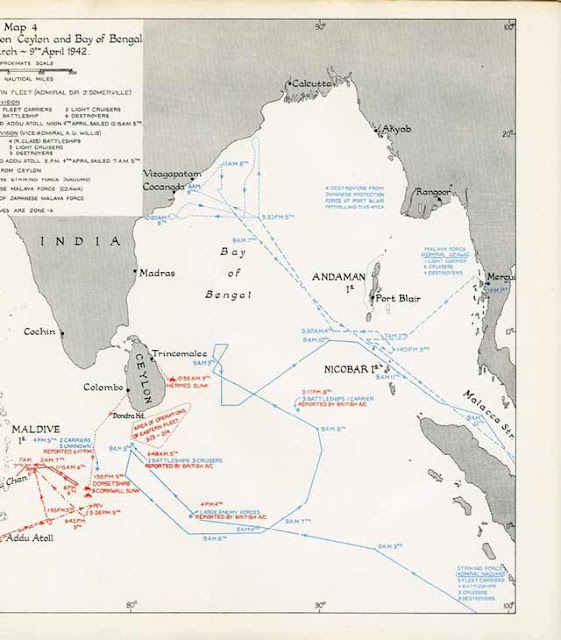 Map of the 5 April 1942 Easter Sunday Raid worldwartwo.filminspector.com