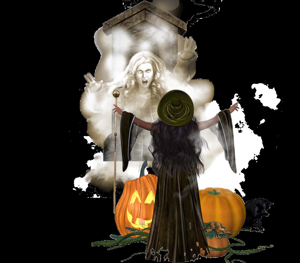 Bruja invocando espíritus