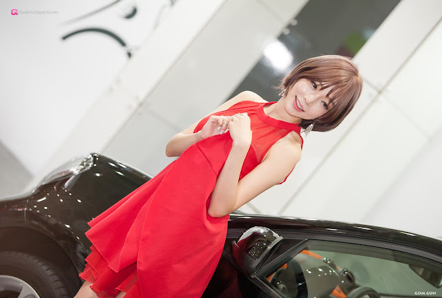1 Shim Min Hee - Seoul Auto Salon - very cute asian girl-girlcute4u.blogspot.com