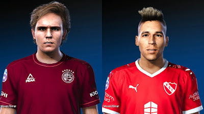 PES 2020 Faces Pedro De la Vega & Leandro Fernández by Gordoumbanda