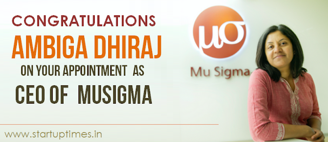 AMBIGA DHIRAJ APPOINTED AS CEO OF MUSIGMA