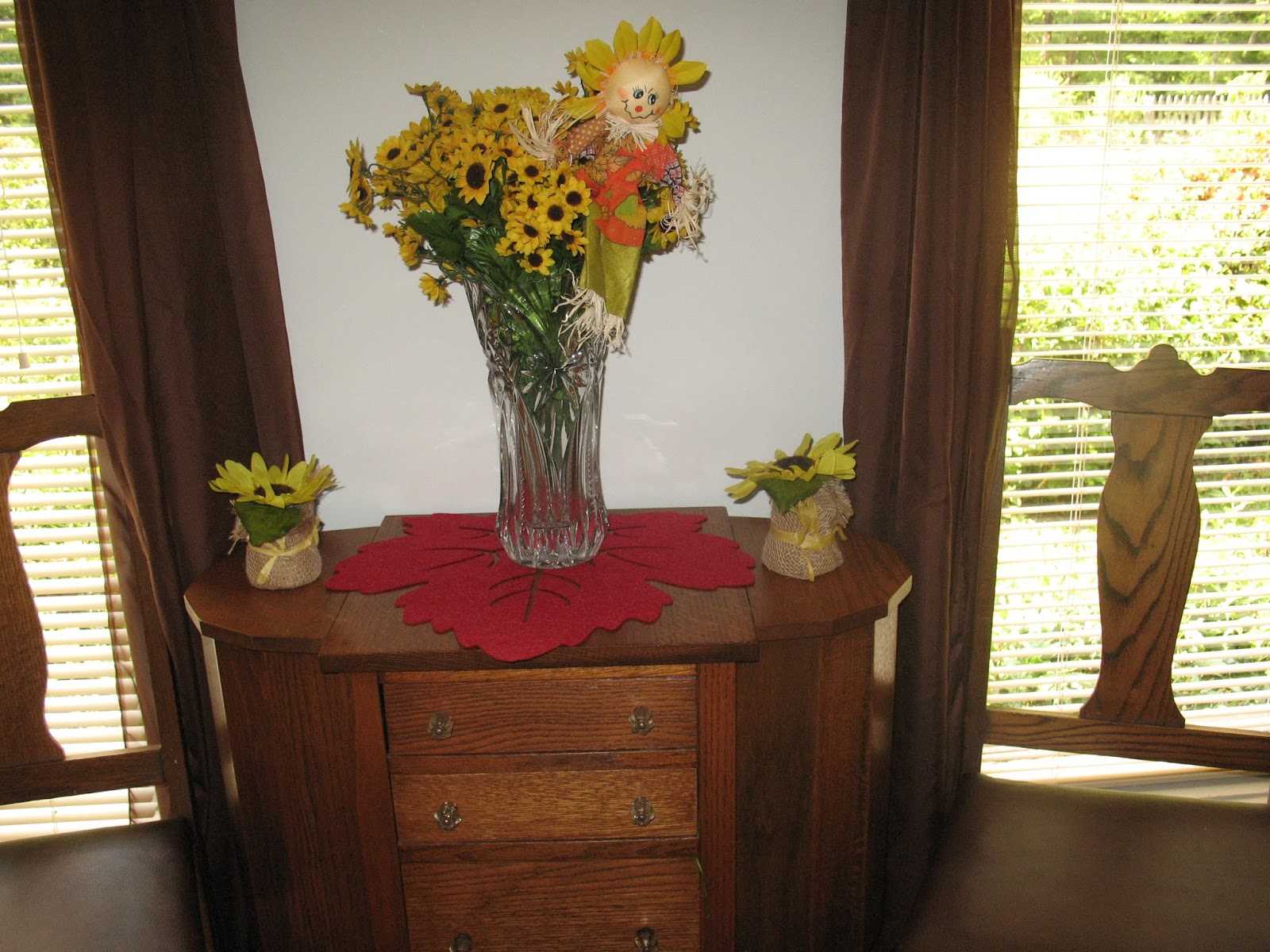 For The Month Of September I Have My Sunflowers And A Few Fall Decorations  Out. They Will Remain Out Through September. Below Are Some Of The Pictures  I ...