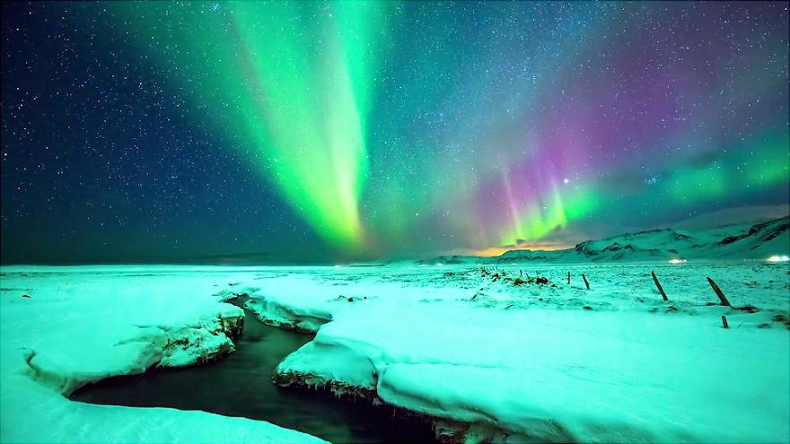 Aurora Borealis Over Honeymoon Rock Apostle Islands National Lakeshore Wisconsin