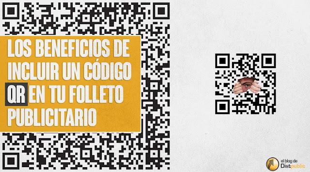 código QR en folleto publicitario