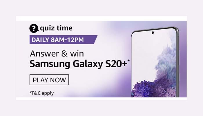 Amazon Quiz 30 August 2020 Answers