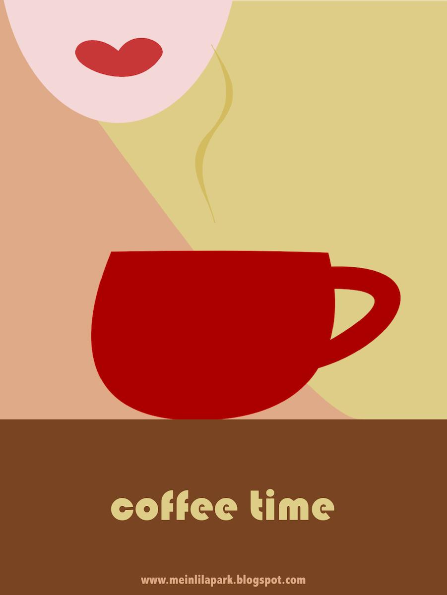free printable coffee art card - ausdruckbare Karte ...
