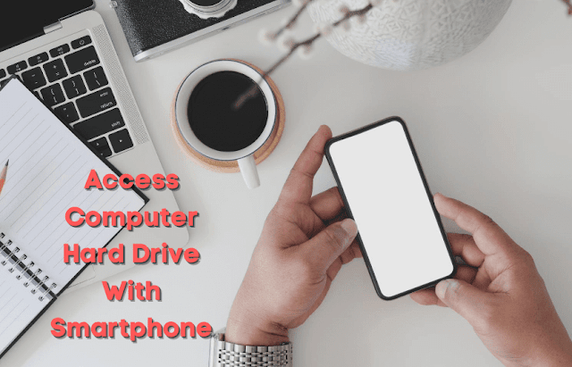 access computers hard drive with smartphone
