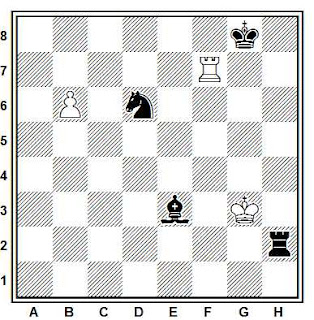 Estudio artístico de ajedrez compuesto por H. M. Matisson (Deutsches Wochenschach, 1918)
