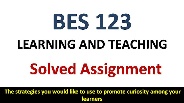 The strategies you would like to use to promote curiosity among your learners; ignou bes solved assignment