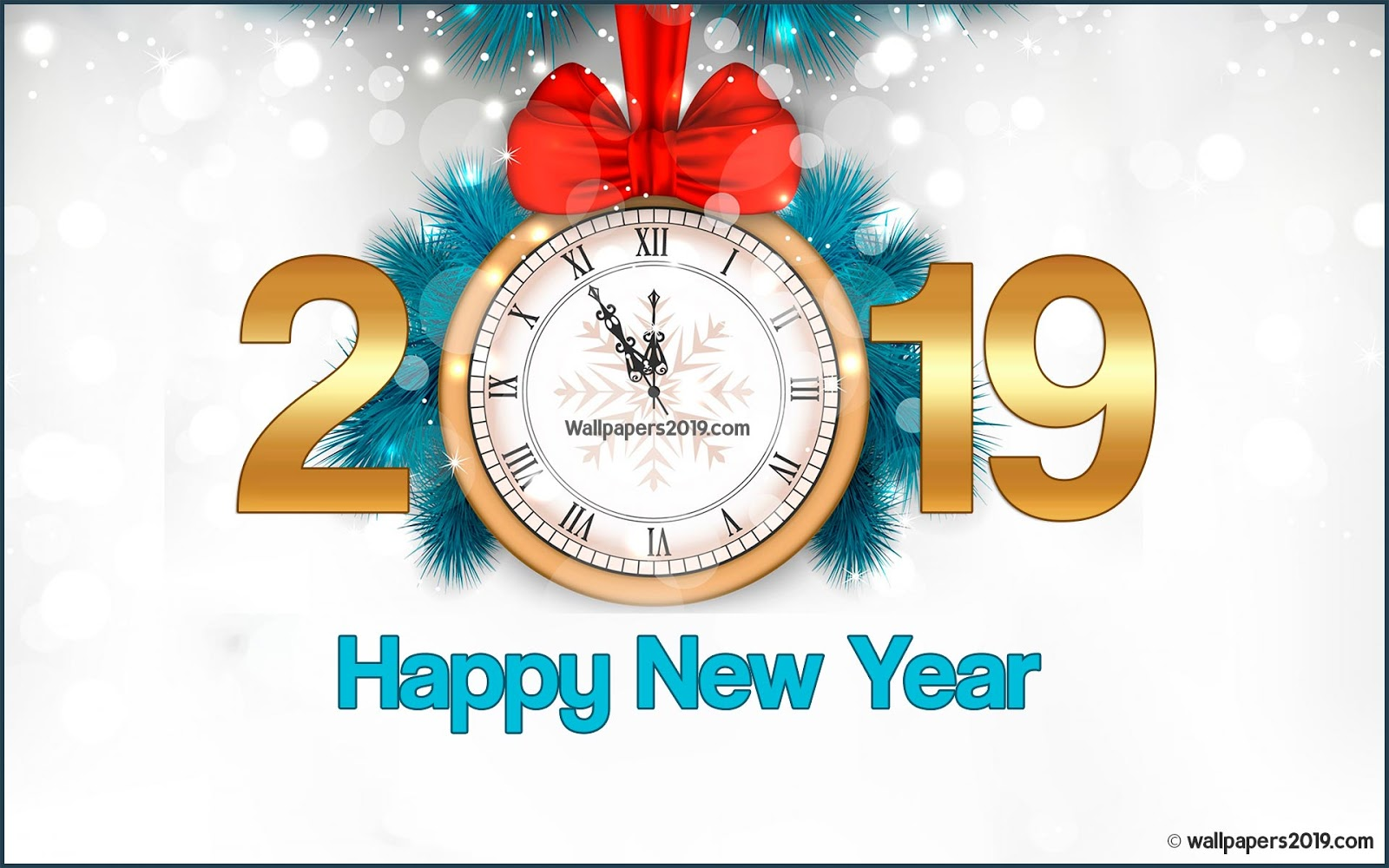 Wallpaper 2019 happy new year HD