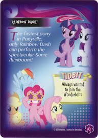 My Little Pony Rainbow Dash Equestrian Friends Trading Card