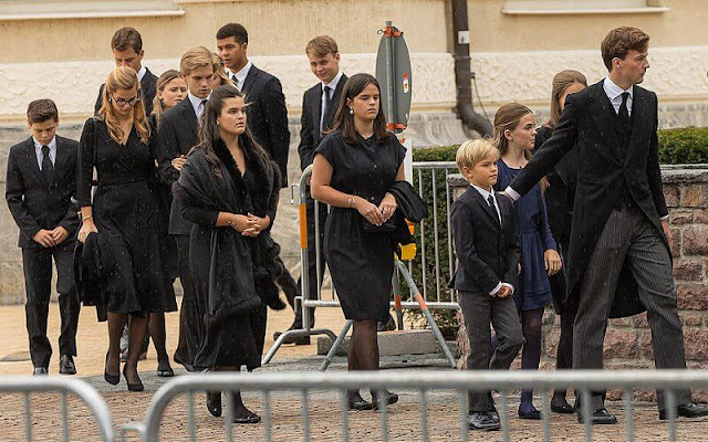 Queen Sofía of Spain, Princess Caroline of Hannover, Prince Guillaume and Princess Sibilla, Hereditary Princess Sophie