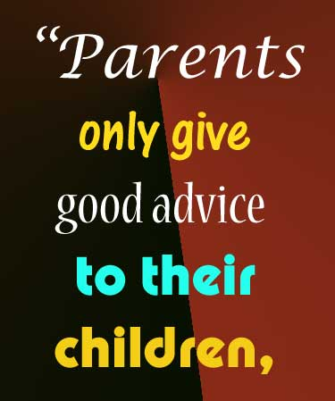 A motivational quotes for parents to treat children