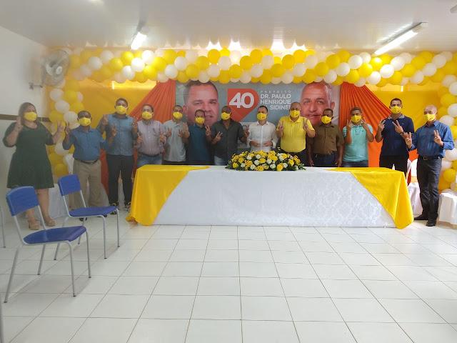 Uma convenção histórica em Caatiba  oficializou a pré candidatura de Dr. Paulo Henrique  e Sidinei