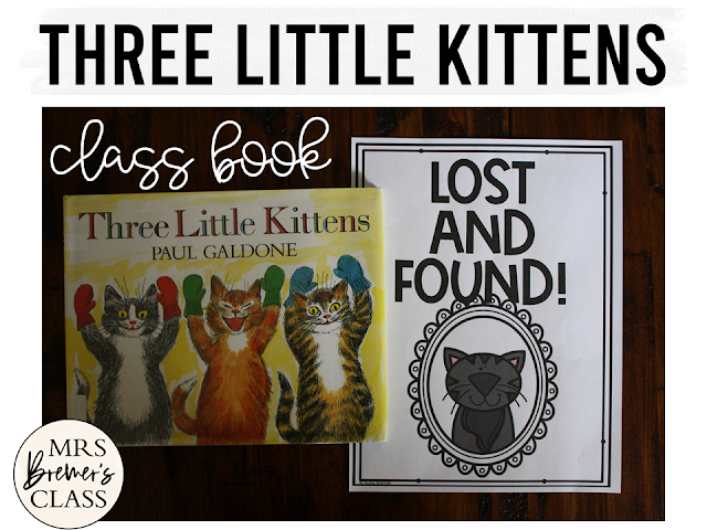 The Three Little Kittens book study winter literacy unit with Common Core aligned companion activities and a craftivity for K-1