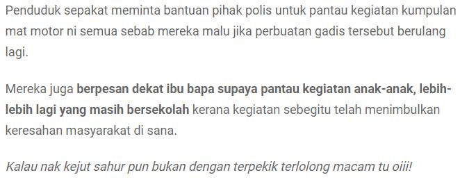 """""""B*doh Piang...""""-Ikut Geng Mat Motor Kejut Sahur, Gadis Tayang BR4 Sepanjang Jalan 6"""