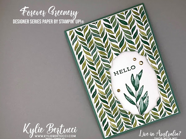 Pretty Cards and Paper International Blog Hop April 2021 | Forever Greenery Designer Series Paper